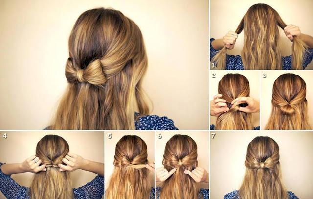 peinado forma de lazo