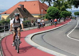 Special safe bicycle routes for users in Europe