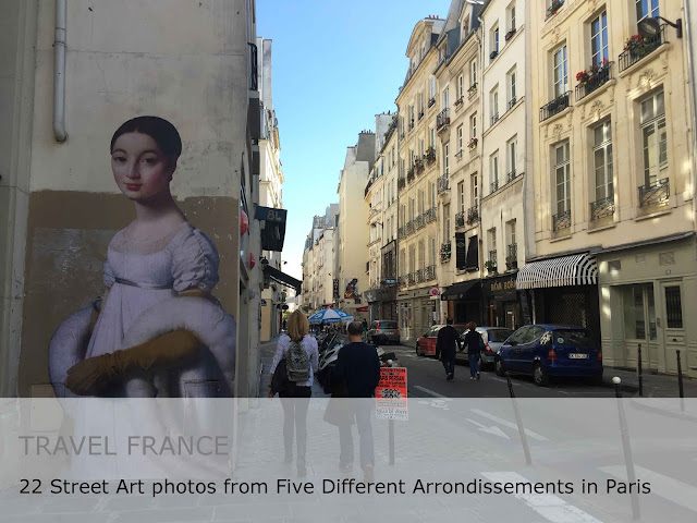 Travel France. 22 Street Art photos from five different arrondissements in Paris