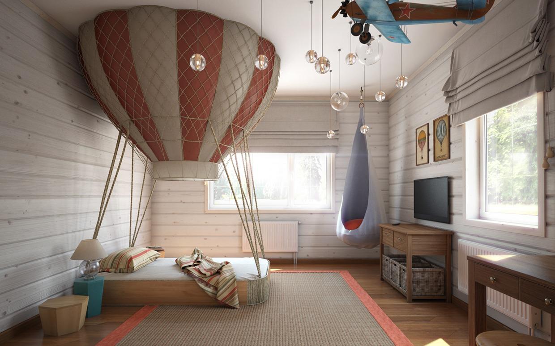 52d58cd14d4 Ένα παιδικό δωμάτιο ακολουθεί τη θεματική διακόσμηση, αλλά χωρίς την  παραμικρή ακαλαισθησία ή και υπερβολή παρόλο που την θέση του κρεβατιού  καταλαμβάνει ...