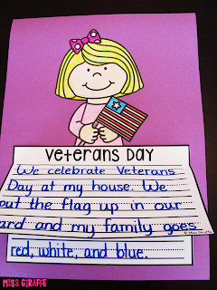 Veterans Day writing activities that are perfect no prep crafts