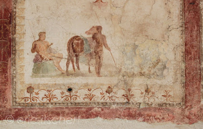 Voyage à Rome, mont palatin, fresques, apollon citharède, décorations murales, antiquité romaine, Rome,