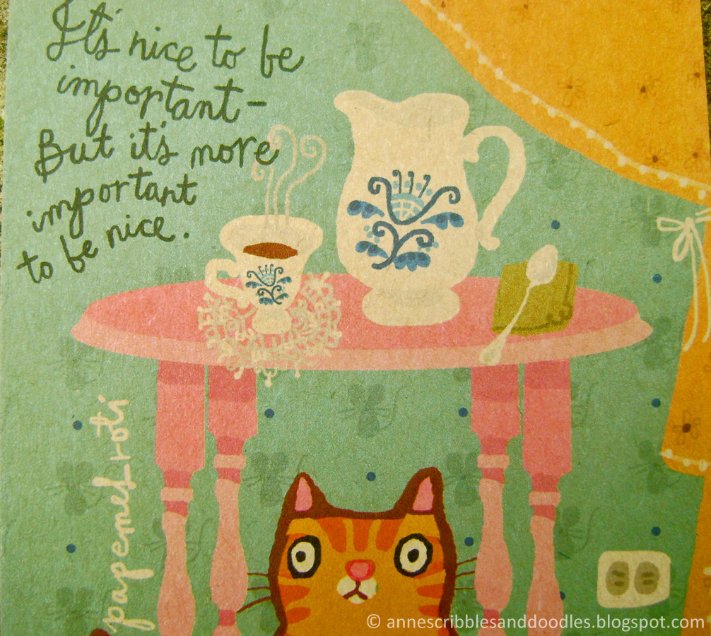 Papemelroti Postcard: It's nice to be important but it's more important to be nice.
