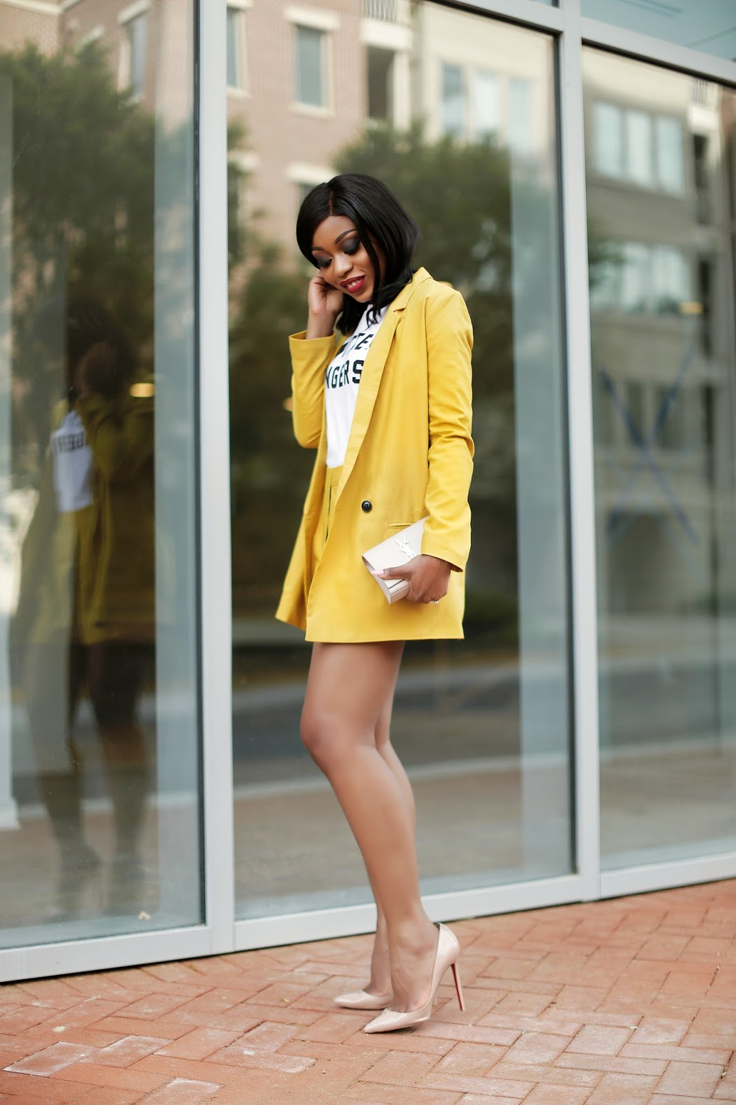 summer yellow suit, www.jadore-fashion.com