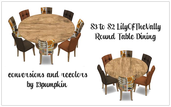 Sims 4 Cc S The Best Round Table Dining By 13 Pumpkin S