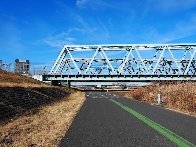 荒川自転車道 常磐線 東京メトロ千代田線