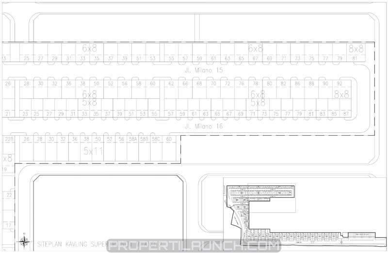 Siteplan Cluster Milano Village