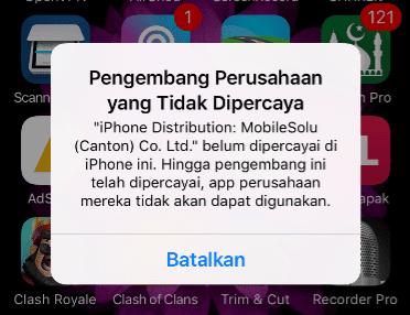 Cara Terbaru mengambil AirShou di iPhone Tanpa Jailbreak