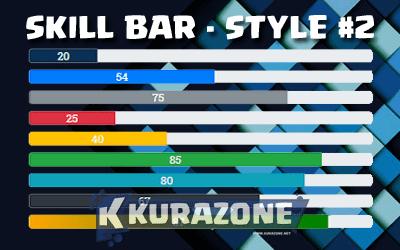 Cara Membuat Skill Bar dengan CSS3 - Style #2