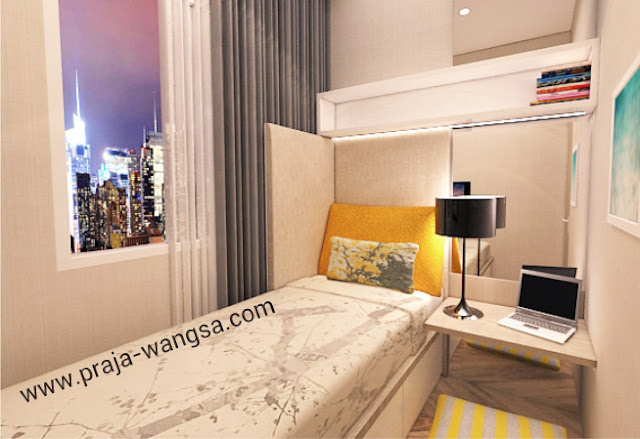 Interior Design Apartemen Prajawangsa City - Small Bedroom