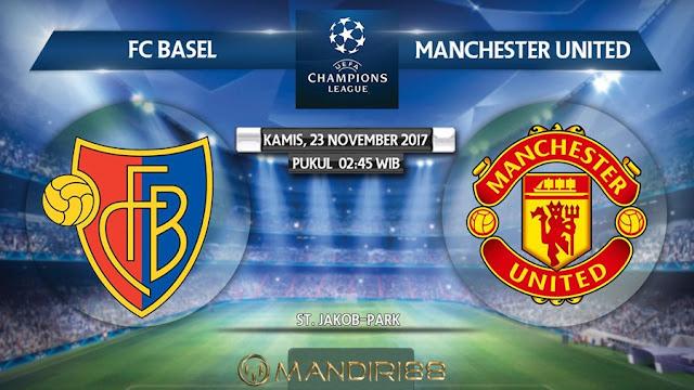Prediksi Bola : Basel Vs Manchester United , Kamis 23 November 2017 Pukul 02.45 WIB
