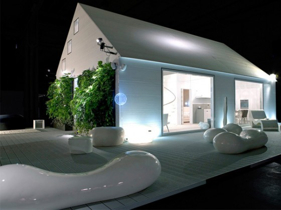 Modern prefabricated home design, Italy