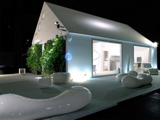 Modern prefabricated home design, Italy