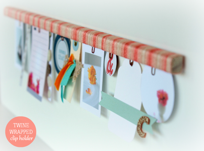 Twine Wrapped Clip Holder | homework
