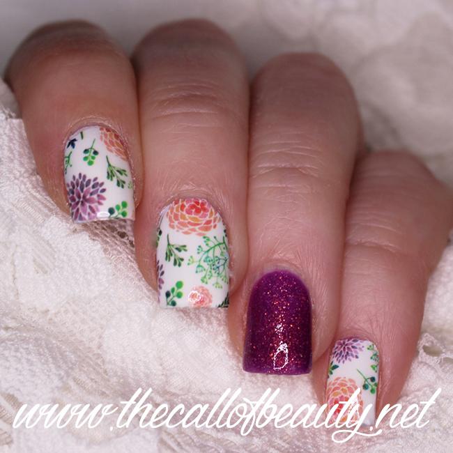 Pastel Dahlia Nail Art