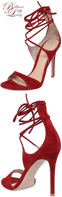 Brilliant Luxury ♦ Gianvito Rossi lace-up suede sandals