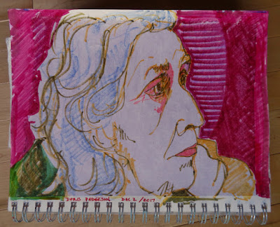 jean pederson mother portrait copic markers sketchbook