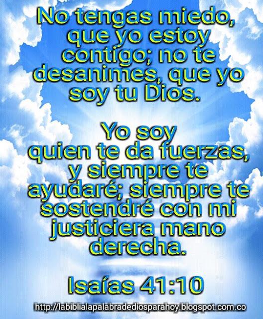 La Biblia La Palabra De Dios Para Hoy-Isaias 41-10