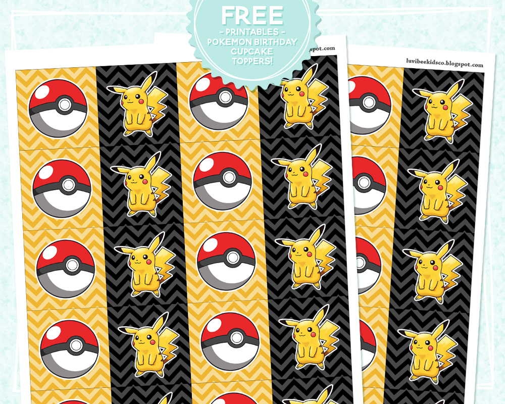 photo relating to Pokemon Cupcake Toppers Printable titled Pokémon Fever! No cost Cupcake Toppers Printable