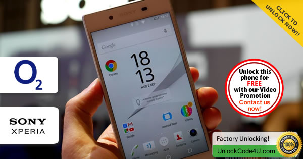 Factory Unlock Code Sony Xperia Z5 Premium from O2