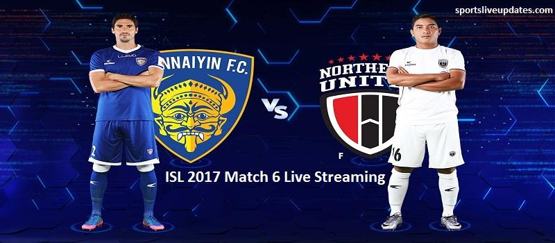 Chennaiyin vs NorthEast Live Streaming