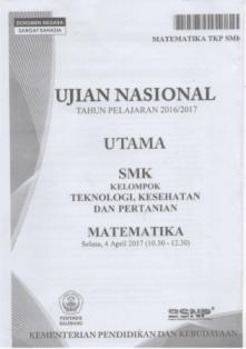 Soal UN Matematika SMK 2017