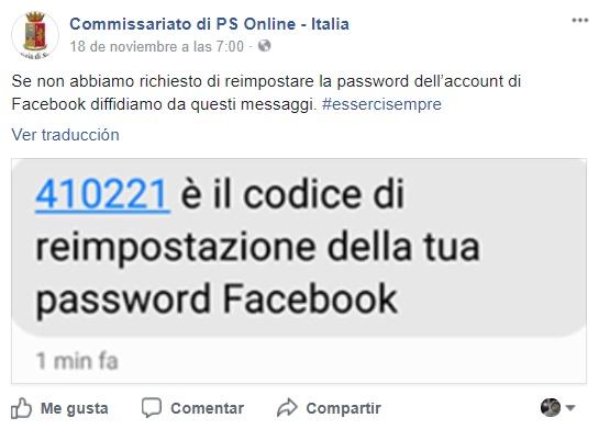 Cambio password Facebook con un SMS, a volte è un un tentativo di truffa