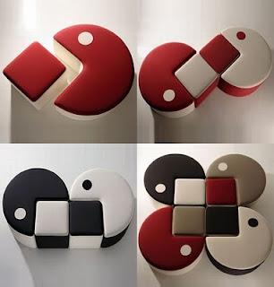 diseño de silla muy ingeniosa con forma de pac-man