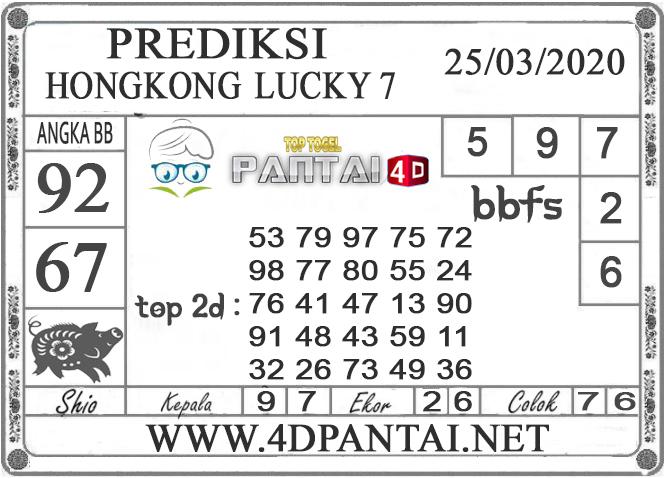 PREDIKSI TOGEL HONGKONG LUCKY 7 PANTAI4D 25 MARET 2020