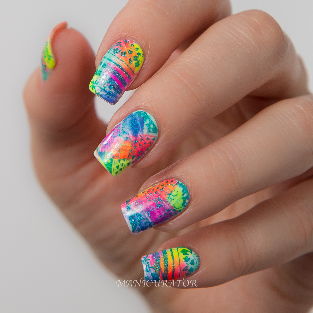 Colorful Nail Designs: Paint All The Nails Presents Neon With Cirque Colors Vice 2016