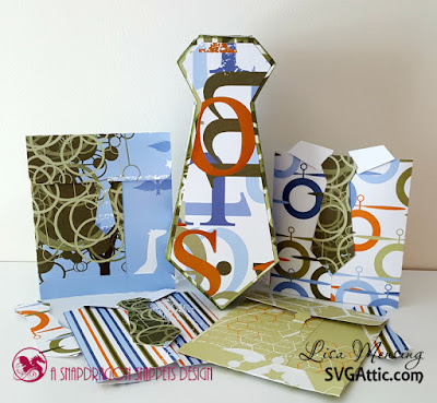 Father's Day Cards and Tie Shaped Gift Box