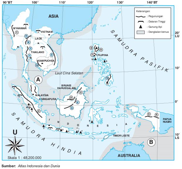 Gambar Peta Asia Tenggara Printablehd Hd