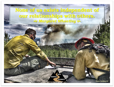 None of us exists independent of our relationships with others. - Margaret Wheatley  [Photo credit: Redding IHC]