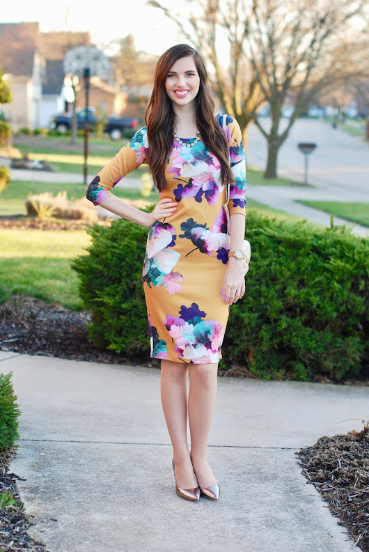 Floral Graphic Dress