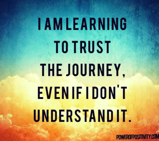 Learn To Trust Quotes: I Am Learning To Trust The Journey, Even If I Don't