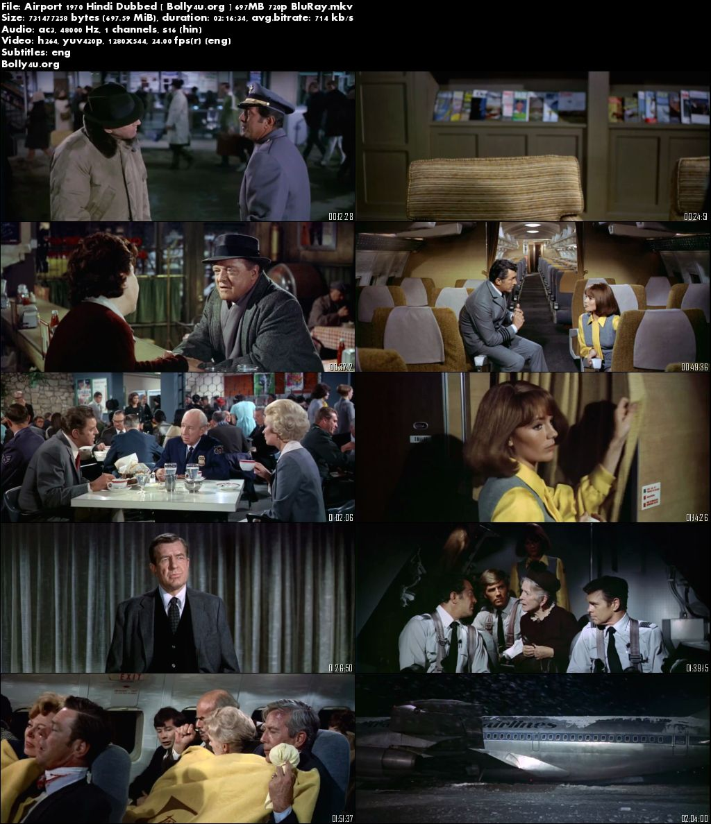 Airport 1970 BluRay 720p Hindi Dubbed 700Mb Download