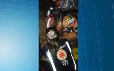 Carro atropela enfermeira durante atendimento do Samu próximo a Esperança