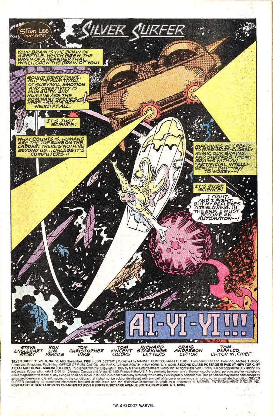 Read online Silver Surfer (1987) comic -  Issue #30 - 3