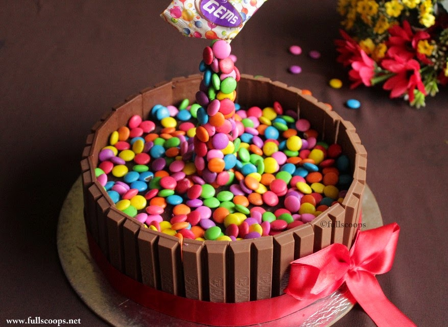 How To Make A Gravity Defying Cake Kit Kat M Amp M Gems