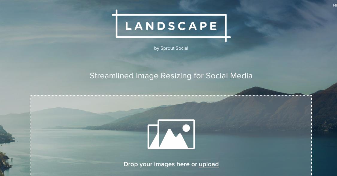 Landscape 一次裁切所有社群媒體專用圖片,免費!