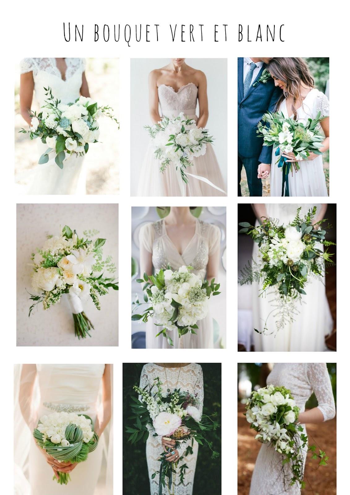 Un bouquet vert et blanc