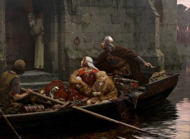 Edmund Blair Leighton - In Time of Peril (c.1897)