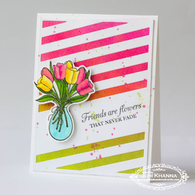 Taylored Expressions Tulips on a CAS card
