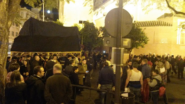 Vorbereitung zur Semana Santa in Sevilla