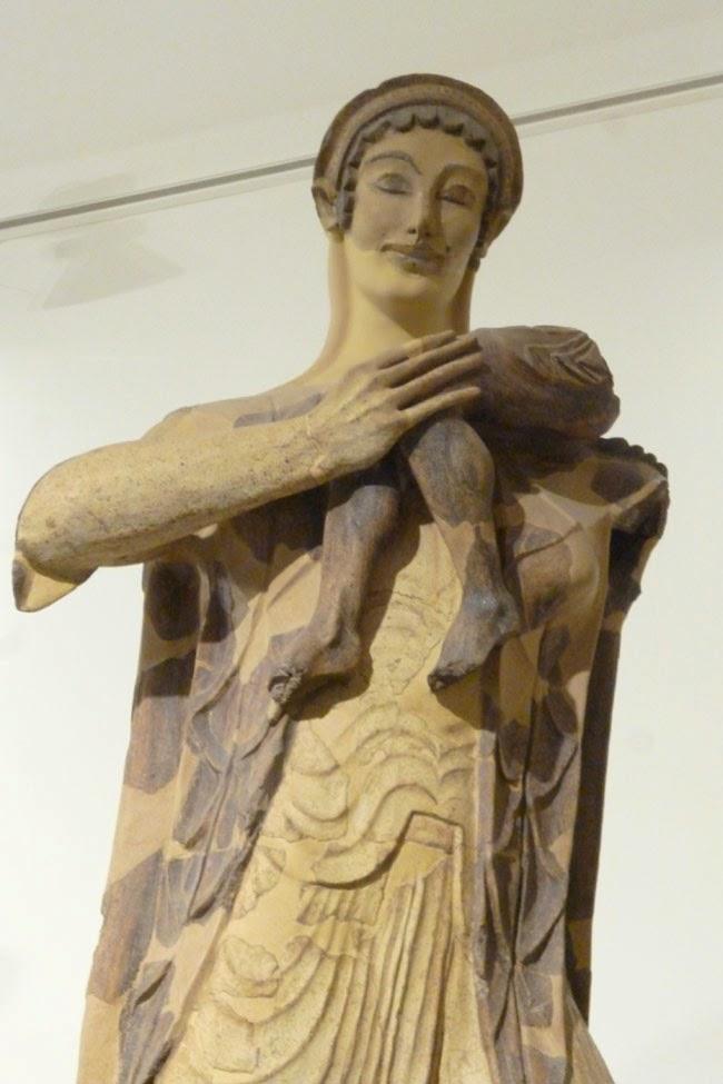 escultura monumental etrusca, Latona, cerâmica