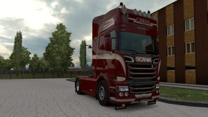 Red Black Skin Scania RJL