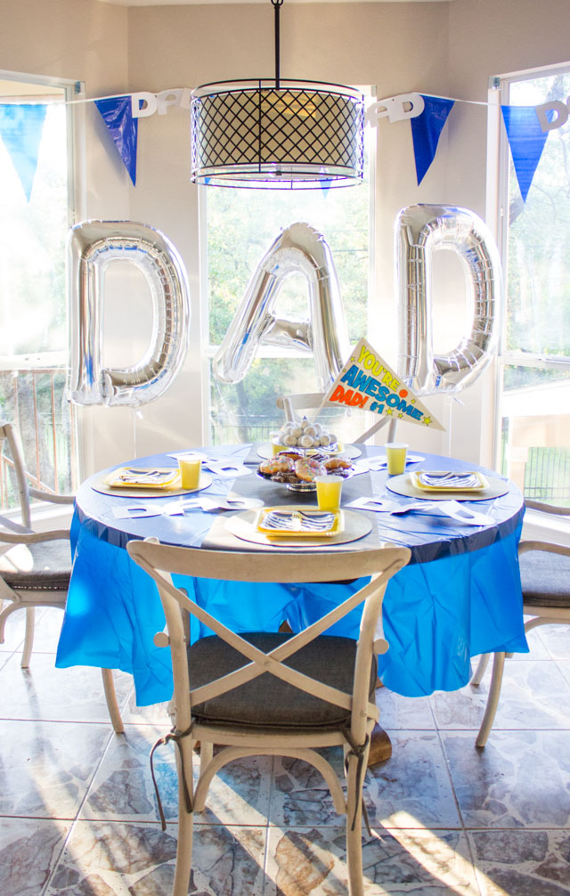 Celebrate dad with a surprise brunch party on Father's Day!