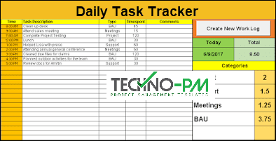 task checklist, daily task tracker