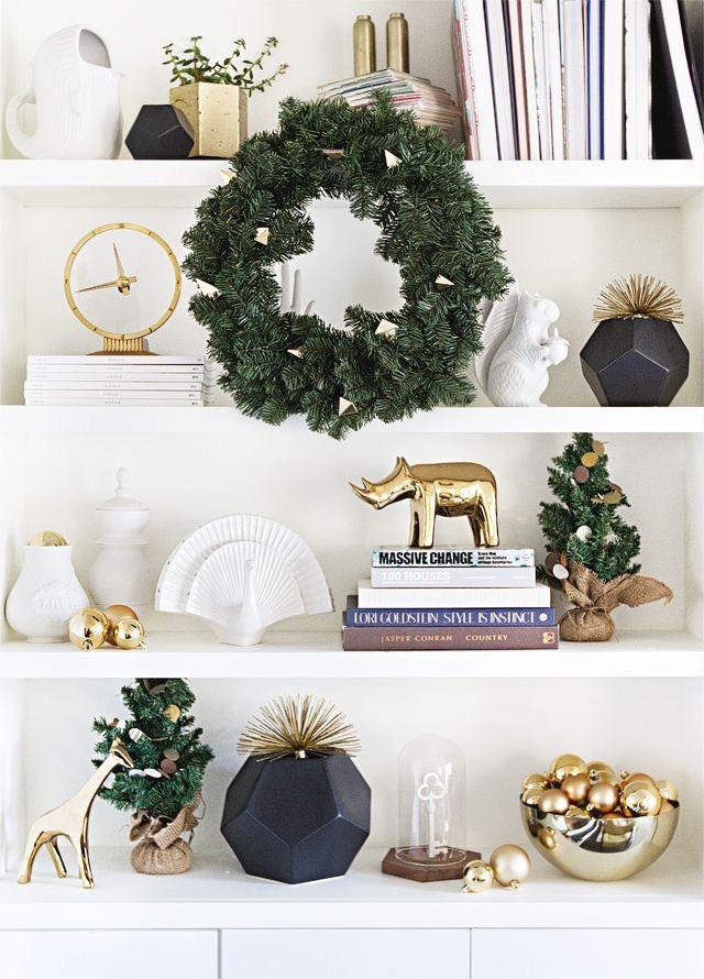 holiday decorating bookShelves ideas