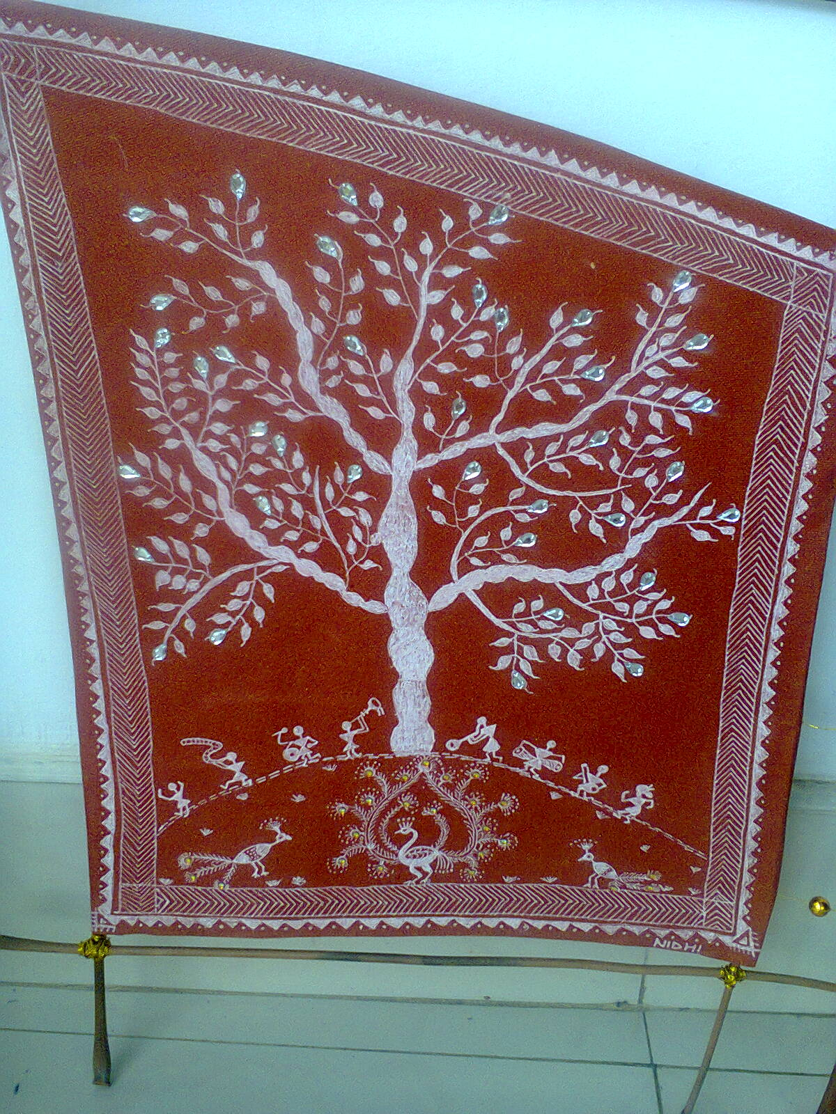 Craftis Corner Warli Art With Kundans